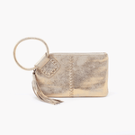 Hobo: Sable Gold Leather Wristlet Clutch