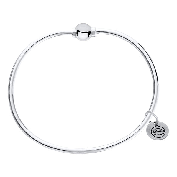 Cape Cod Beaded Bangle in Sterling Silver - Annie's Hallmark Baldoria