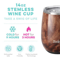 Swig : Stemless Wine Cup in Black Walnut