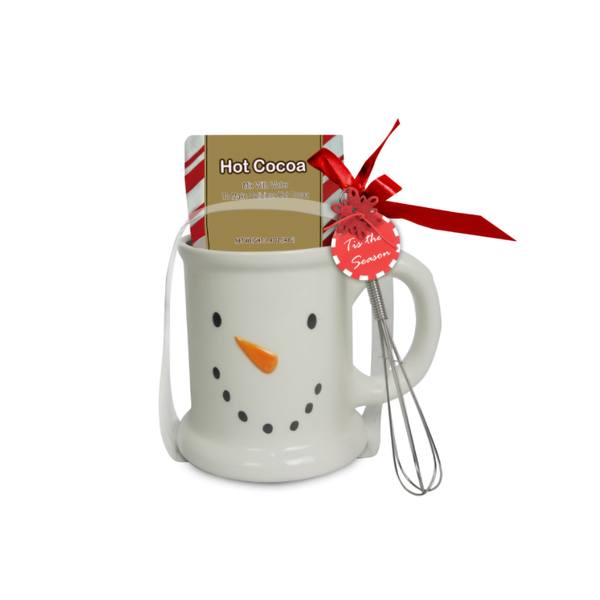 16oz Cocoa in a Snowman Mug - Packaged Gift Set
