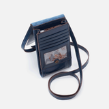 Hobo: Token Blue Leather Wallet Crossbody - Annie's Hallmark & Gretchen's Hallmark, Sister Stores