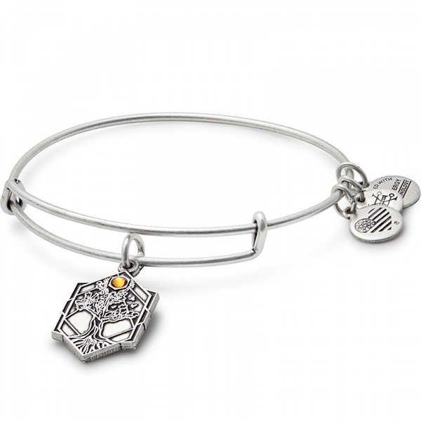 ALEX AND ANI : Tree of Life Charm Bangle in Rafaelian Silver