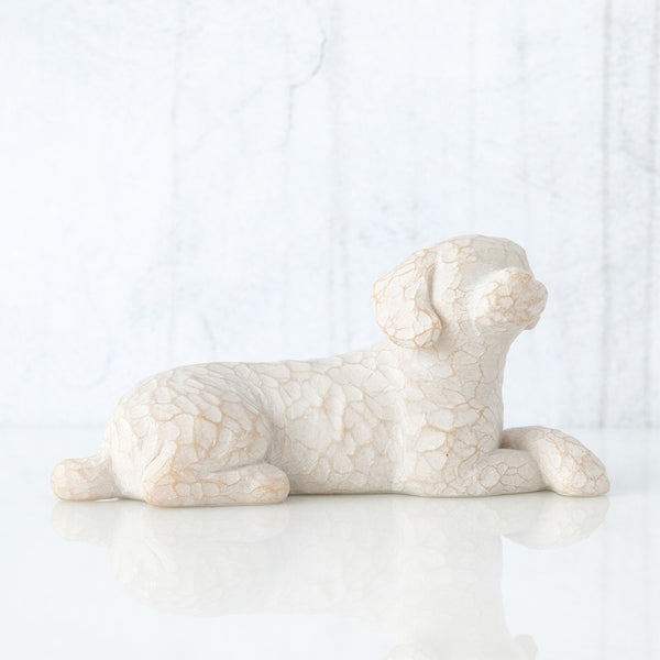Willow Tree : Love My Dog (Small, Lying Down) Figurine