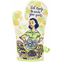 "Blue Q : Oven Mitt - ""Get Ready to Undo Your Pants"""