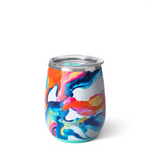 Swig : Stemless Wine Cup in Color Swirl