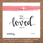 Shine Life : You Are Loved Necklace (2 Asstd Finishes)