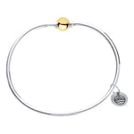 Cape Cod Beaded Bangle in Sterling Silver with 14kt Gold - Annie's Hallmark Baldoria