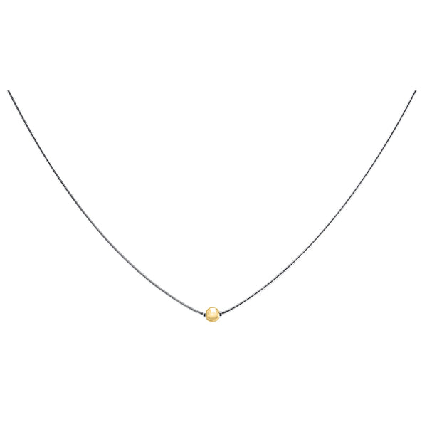 Cape Cod • Lestage : Snake Chain Necklace in Sterling Silver with 14k Gold - Annie's Hallmark Baldoria