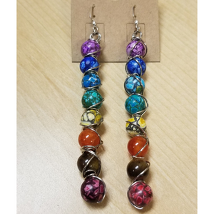 Beaded Chakra Earrings