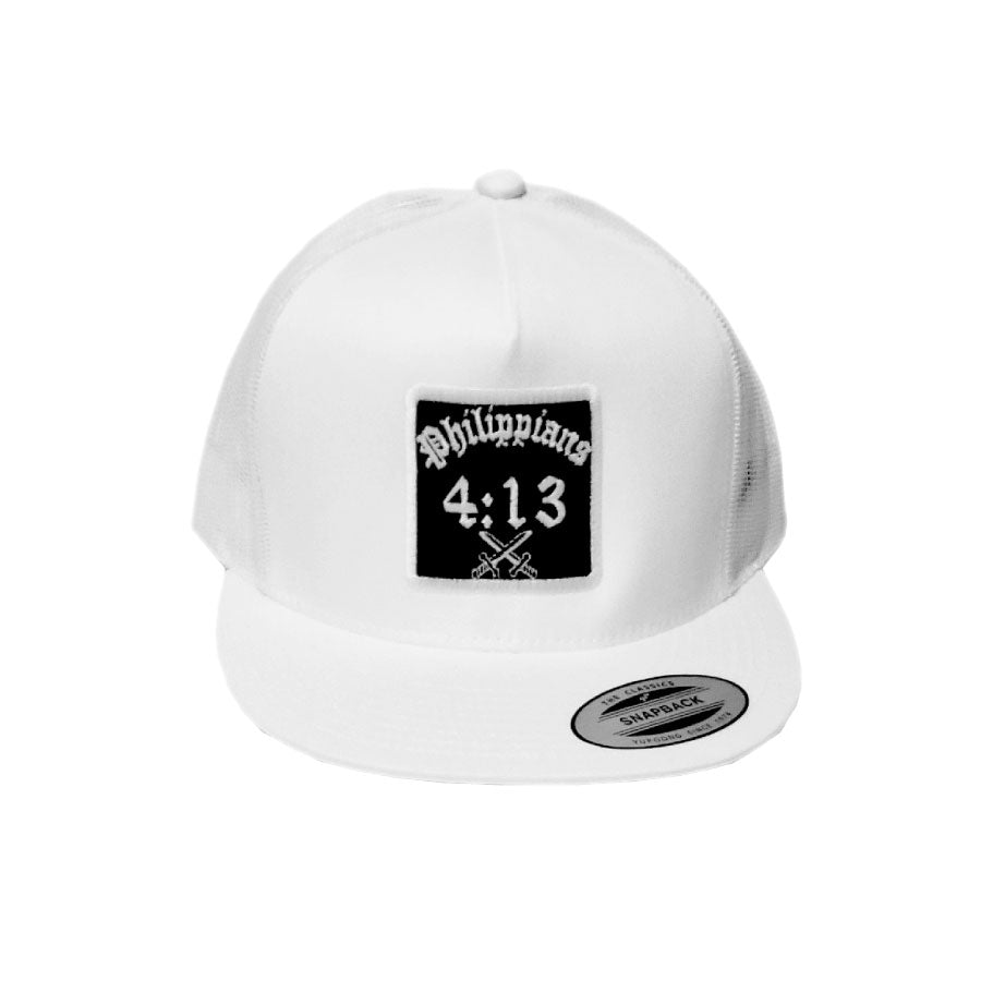 Christian Hat White Mesh