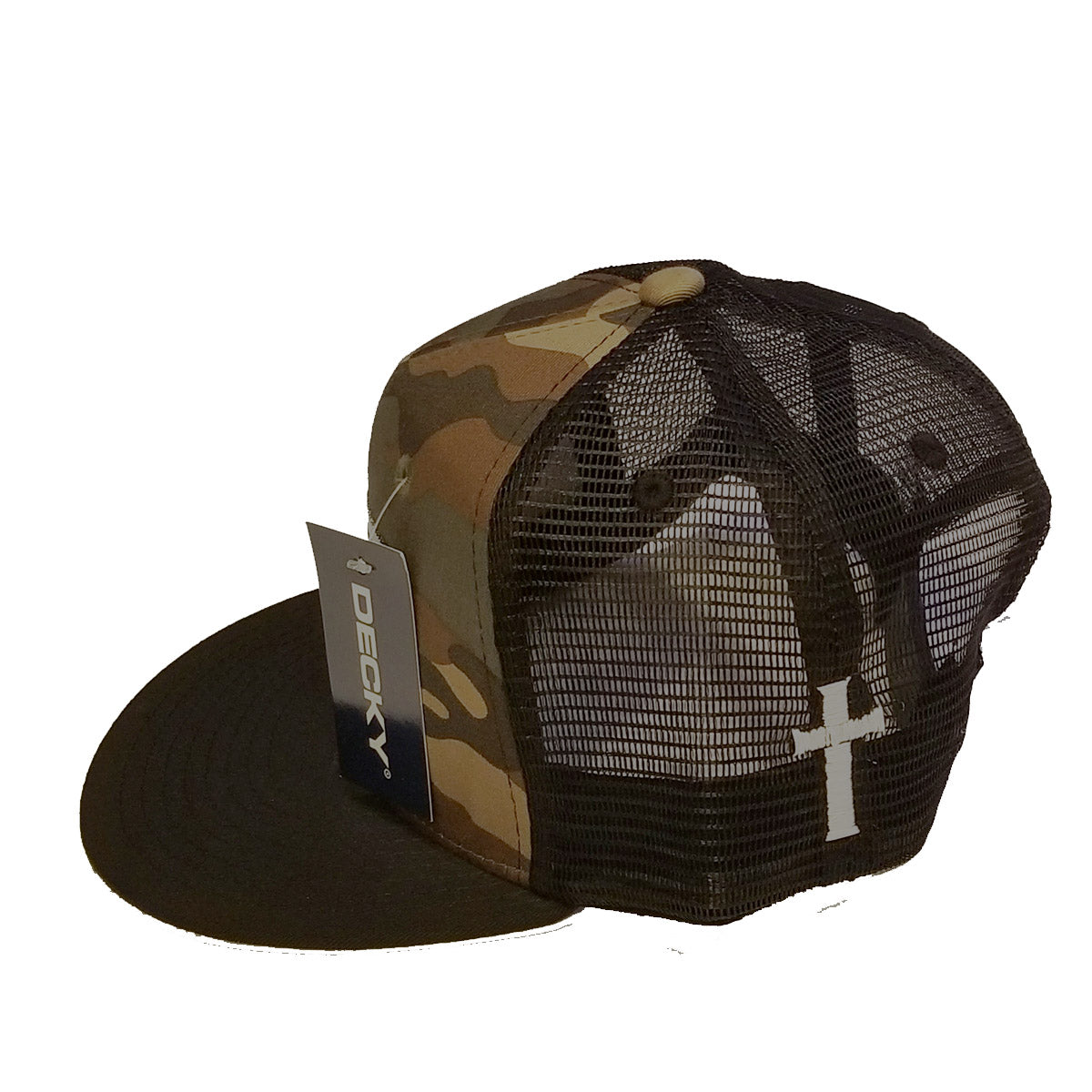 ▪Camo Disciple Duty Trucker Hat & Cross