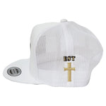 Disciple Trucker Hat White Cross