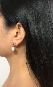 Laeta - 14K Gold Filled Baroque Pearl Earrings