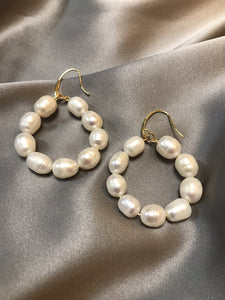 Fervo - 18K Gold Plated Baroque Pearl Earrings