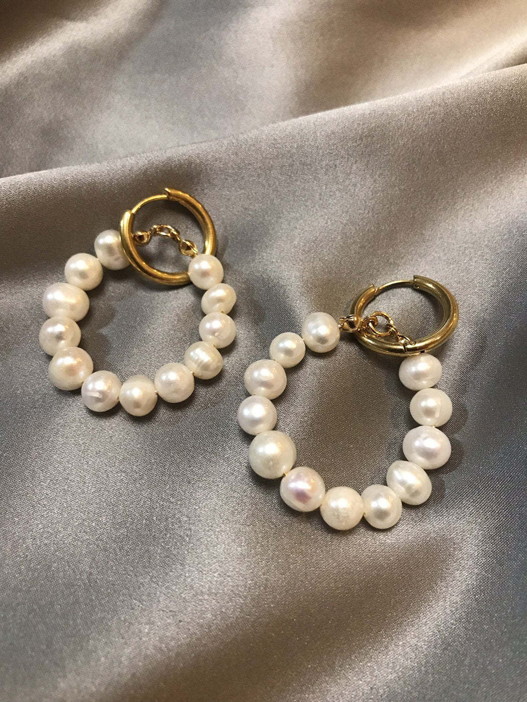 Lumina - 18K Gold Plated Baroque Pearl Earrings