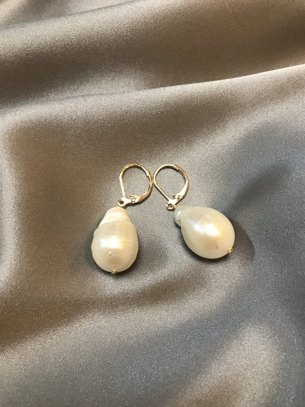 Rosea - 18K Gold Plated Baroque Pearl Earrings