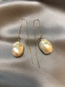 Mani - 24K Gold Plated Baroque Pearl Earring