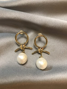 Solia - 14K Gold Filled Baroque Pearl Earrings