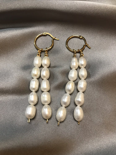 Dew - 18K Gold Plated Baroque Pearl Earrings