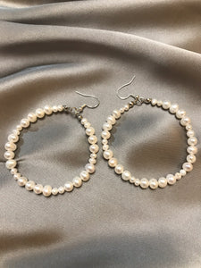 Luna - Silver Baroque Pearl Earrings