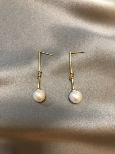 Knotas - 14K Gold Filled Baroque Pearl Earrings