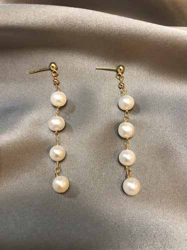 Fona - 14K Gold Filled Baroque Pearl Earrings