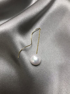 Wave - 14K Gold Filled Baroque Pearl Earring