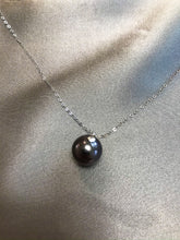 Load image into Gallery viewer, Issa - Tahiti Salt Water Pearl Necklace with 18K Solid White Gold Chain