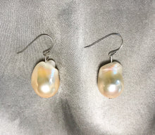 Load image into Gallery viewer, Aprica - 18K Gold or White Gold Plated Baroque Pearl Earrings