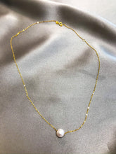 Load image into Gallery viewer, Sillia - Japanese Akoya Salt Water Pearl Necklace with 18K Gold Chain