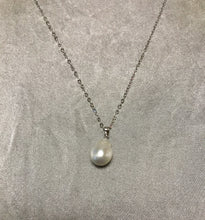 Load image into Gallery viewer, Issa - South Sea Baroque Pearl Necklace with 18K White Gold Plated Silver Chain