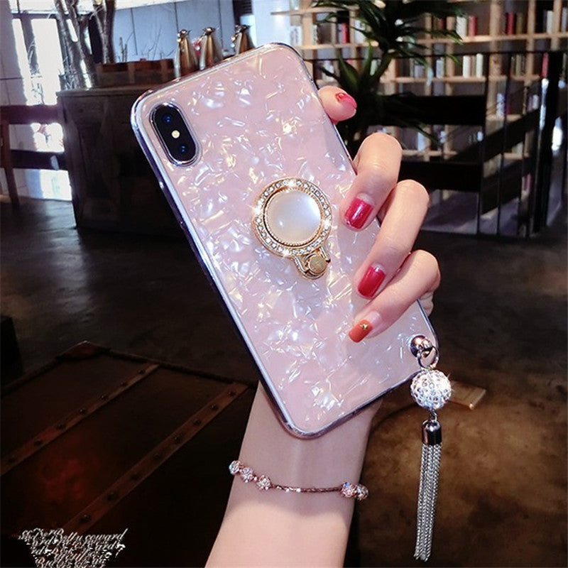 Etui na Iphone Shell-printed water drill su applies P30Pro phone shell X27 anti-fall reno bracket V15 soft shell A5 protective case - Magic Pockets