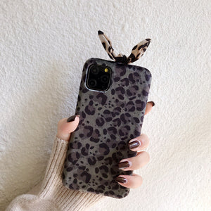 Etui na Iphone Autumn and winter Plush leopard ears 11pro / max Apple X / XS / XR case for iPhone 8plus / 7p - Magic Pockets