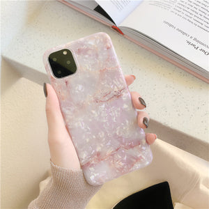 Etui na Iphone Marble shell 8plus apple x phone case XS Max/XR/X/7p for iphone11Promax - Magic Pockets