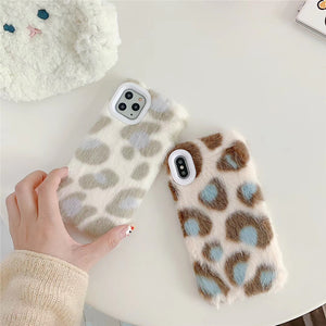 Etui na Iphone Autumn and winter furry leopard print x/xs/xr Apple 7/8plus for iPhone 11 Pro Max mobile phone case - Magic Pockets