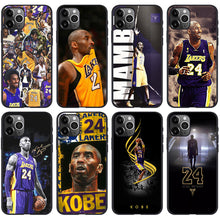 Załaduj obraz do przeglądarki galerii, Etui na iPhone11 NBA Lakers Czarna Mamba Kobe Kobe phone case  SJK-YLBB-101004-1 - Magic Pockets