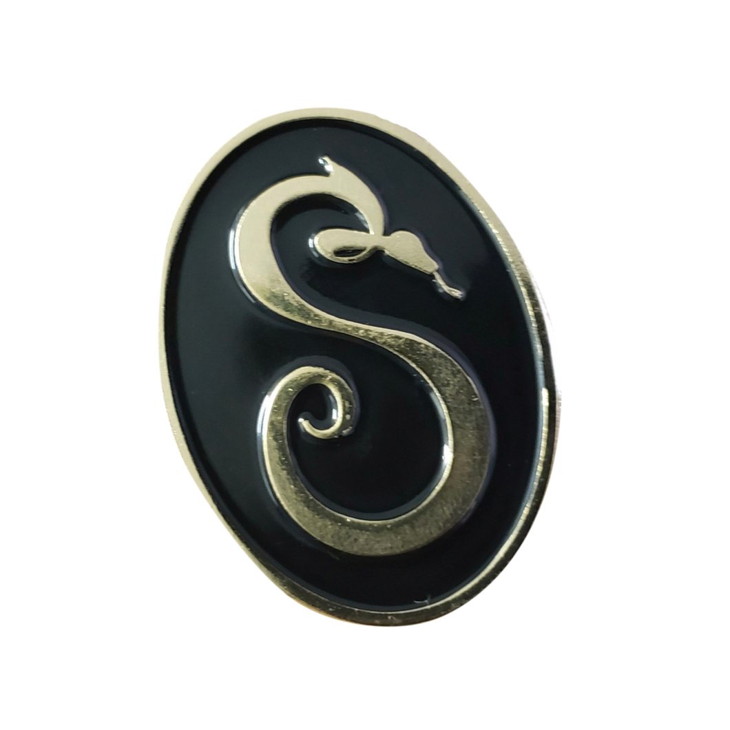 I Am Sin Snake Logo Pin