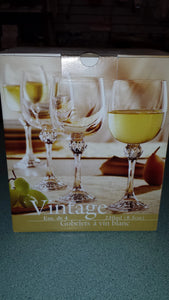 White Wine Glasses - Vintage Collection - set of 4