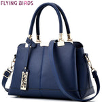 FLYING BIRDS women tote designer famous brands women leather handbag patchwork purse shoulder bag messenger bags A17fb