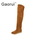 Gaorui Boots Women Boots Turned Over Edge Women Over-The-Knee Boots Women Boots