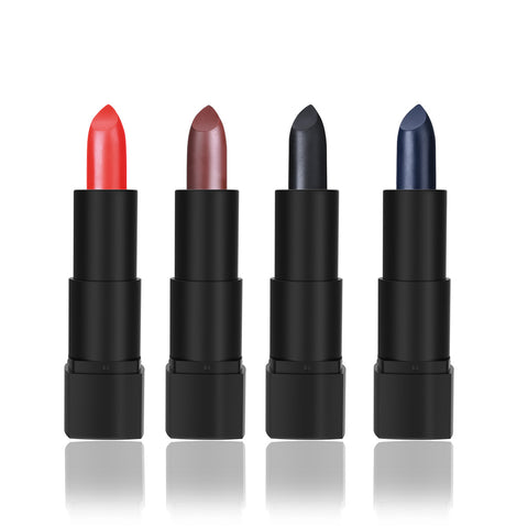 4Pcs ETEREAUTY Halloween Style Lipstick Set Matte Lipstick 4 Colors of Choices for Halloween Masquerade Party Decoration