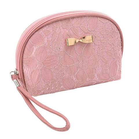 Finmind Toiletry Bag Shell Shape Cosmetic Bag Travel Zipper Makeup Bag For Women Girls 1 pack Cosmetic (Rose)