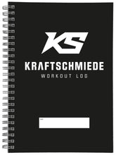 Laden Sie das Bild in den Galerie-Viewer, KRAFTSCHMIEDE® Workout Log (DIN A5)