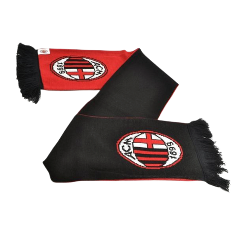 AC MILAN JACQUARD SCARF FLIP SIDE - [everything-football].