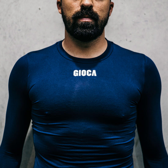 GIOCA NAVY COMPRESSION TOP LONG SLEEVE