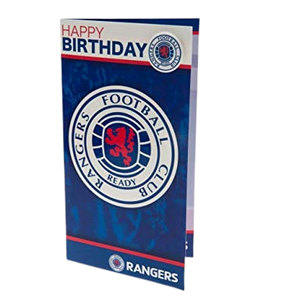 RANGERS BIRTHDAY CARD AND BADGE - [everything-football].
