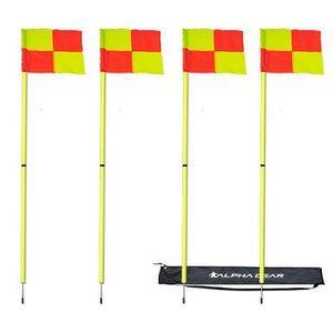 ALPHA CORNER FLAG 4 PACK IN BAG - [everything-football].