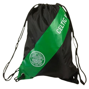CELTIC GYM BAG STRIPE WHITE - [everything-football].