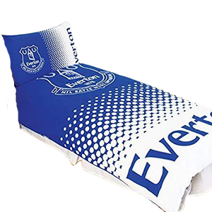 EVERTON DUVET SET SINGLE + PILLOW CASE - [everything-football].
