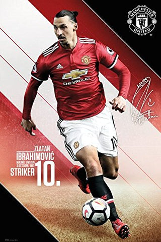 ZLATAN IBRAHIMOVIC MANCHESTER UNITED POSTER - [everything-football].